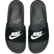 "Men's Nike Benassi ""Just Do It."" Sandal - Black/White"