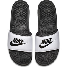 "Nike Benassi ""Just Do It."" Sandal - White"