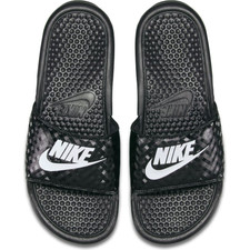 "Nike Women's Benassi ""Just Do It."" Sandal - Black"