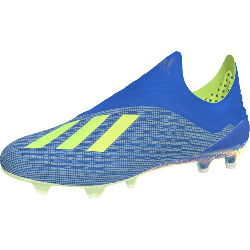 63b1d90bf0 adidas X 18+ Firm Ground Boot - Football Blue Solar Yellow Core Black