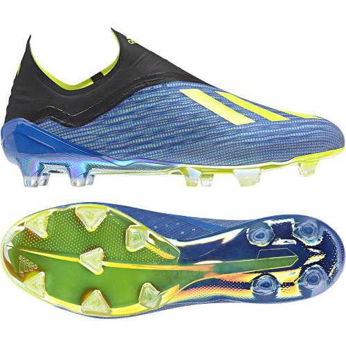 adidas X 18+ Firm Ground Boot - Football BlueSolar YellowCore Black ...