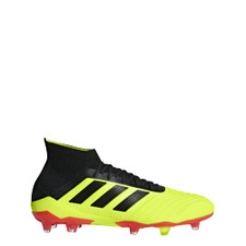 adidas Predator 18.1 Firm Ground Boots - Solar Yellow/Core Black/Solar Red