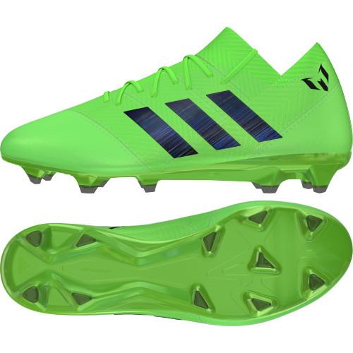 bcc7bc39e adidas Nemeziz Messi 18.1 Firm Ground Boot - Solar Green Core Black Solar  Green ...