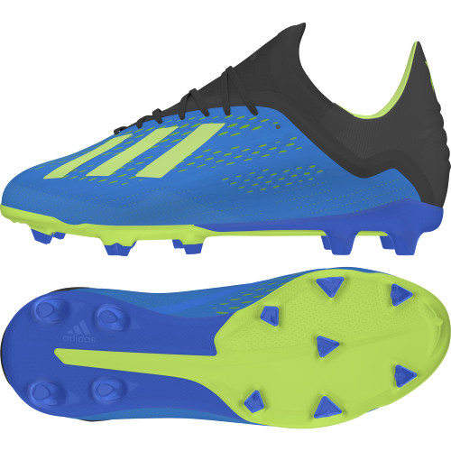 4a7be763d03d adidas adidas X 18.1 Firm Ground Boot Jr - Football Blue Solar ...