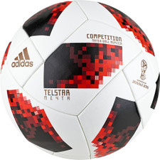 adidas World Cup KO Competition Ball - WHITE/SOLAR RED/BLACK