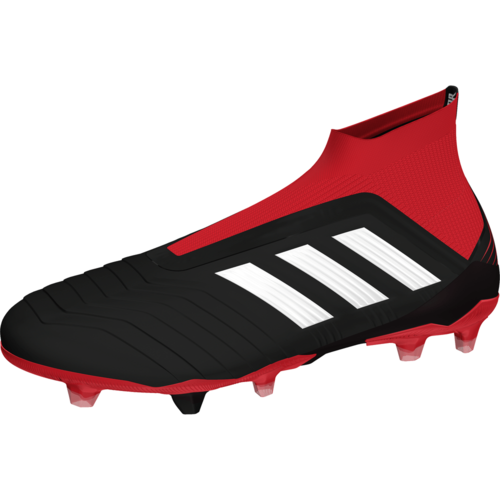 adidas Predator 18+ Firm Ground Boot - Core Black White Red  de18438efc47c