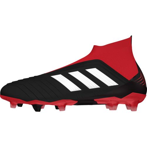 adidas Predator 18+ Firm Ground Boot - Core Black/White/Red