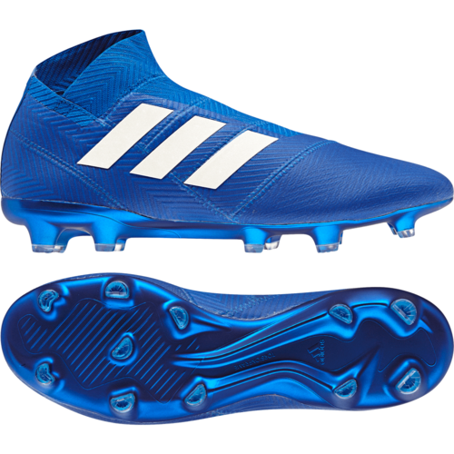 adidas Nemeziz 18+ Firm Ground Boot - Football BlueWhiteFootball Blue