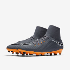 Nike Hypervenom Phantom 3 Academy Dynamic Fit Firm Ground Football Boot - DARK GREY/TOTAL ORANGE-WH