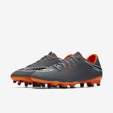 Men's Nike Hypervenom Phantom 3 Academy Firm Ground Football Boot - DARK GREY/TOTAL ORANGE-WHITE