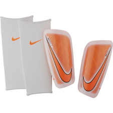 Nike Mercurial Lite Shin Guard - White/Orange