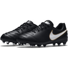 Nike Tiempo Rio III Firm Ground Boot Jr - BLACK/WHITE
