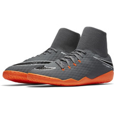 Nike Hypervenom PhantomX 3 Academy Dynamic Fit Indoor Boot - DARK GREY/TOTAL ORANGE-WHITE