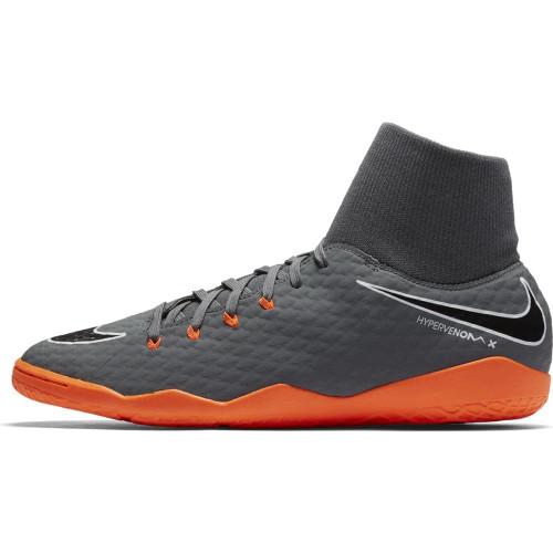 Nike Hypervenom PhantomX 3 Academy Dynamic Fit Indoor Boot - DARK GREY/TOTAL ORANGE-WHITE