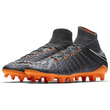 Nike Hypervenom Phantom 3 Elite Dynamic Fit Firm Ground Boot JR - DARK GREY/TOTAL ORANGE-W