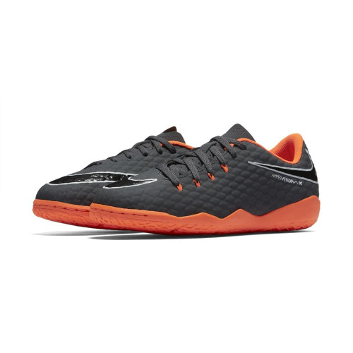 76ed2c509de0 Nike Hypervenom PhantomX 3 Academy Indoor Boot Jr - DARK GREY TOTAL  ORANGE-WHITE