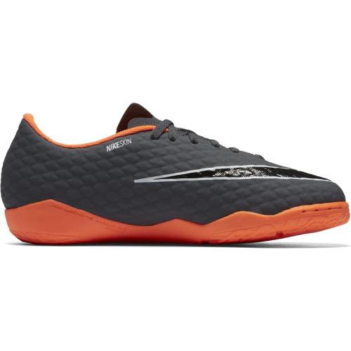 5168a0e91caa ... Nike Hypervenom PhantomX 3 Academy Indoor Boot Jr - DARK GREY/TOTAL  ORANGE-WHITE ...