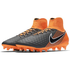 Nike Magista Obra 2 Pro Dynamic Fit Firm Ground Boot - DARK GREY/TOTAL ORANGE-WHITE