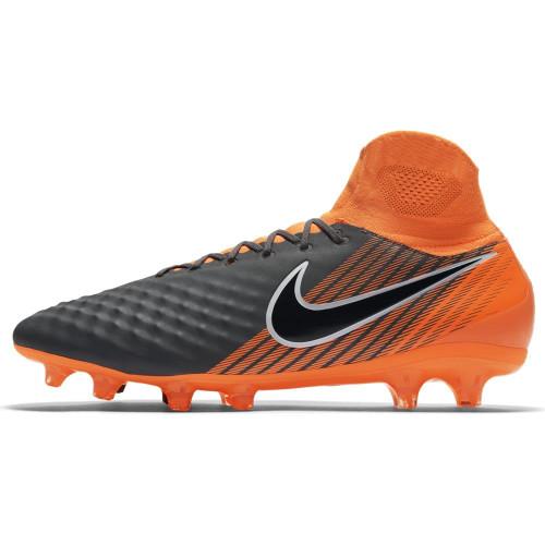 Nike Magista Obra 2 Pro Dynamic Fit Firm Ground Boot - DARK GREY/TOTAL ORANGE-WHITE