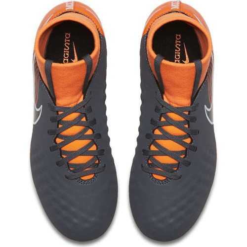 Nike Obra 2 Academy Dynamic Fit Firm Ground Boot Jr - DARK GREY/BLACK-TOTAL ORANGE-WHITE