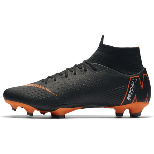 Nike Superfly 6 Pro Firm Ground Boot - BLACK/TOTAL ORANGE-WHITE