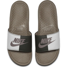 "Nike Benassi ""Just Do It."" Sandal - Stone"