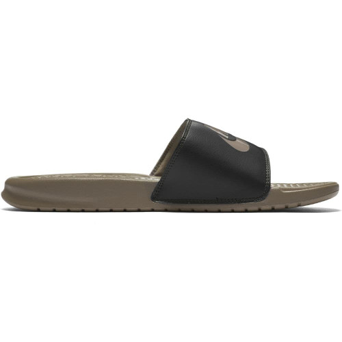 """Nike Benassi """"Just Do It."""" Sandal - Stone"""