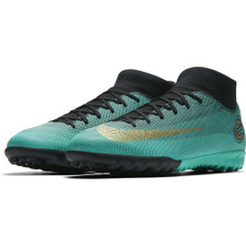 Nike CR7 SuperflyX 6 Academy Artificial Turf Boot - CLEAR JADE/MTLC VIVID GOLD-BLACK