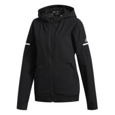 adidas Womens Squad Woven Full Zip Jacket - Black