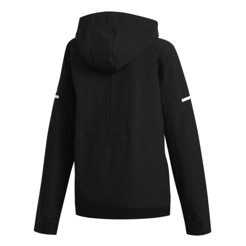 adidas Womens Squad Woven Full Zip Jacket - Black