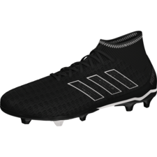 adidas Predator 18.3 Firm Ground Boot - Core Black/Core Black/White
