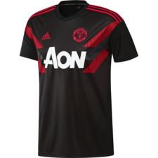 adidas Manchester United Home Pre-Match Jersey - Black/Real Red