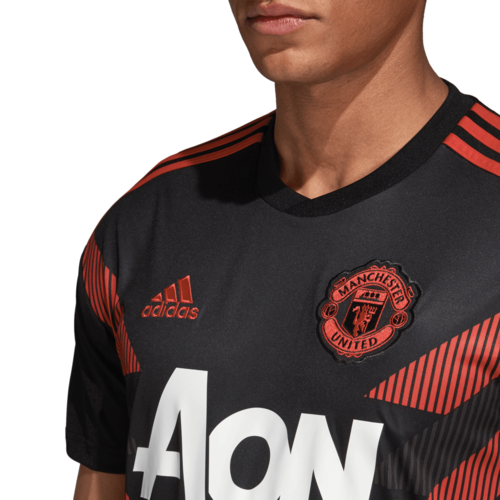 81f413971 ... adidas Manchester United Home Pre-Match Jersey - Black Real Red ...