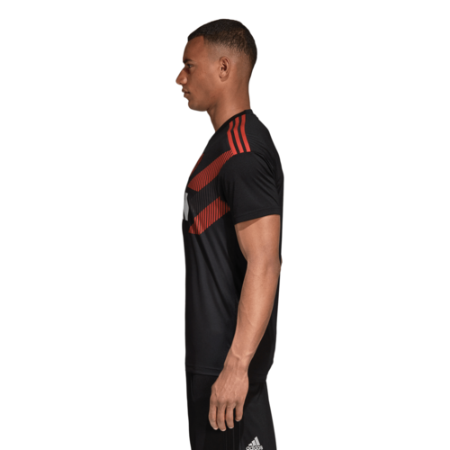 6f2fdd429 ... adidas Manchester United Home Pre-Match Jersey - Black/Real Red ...