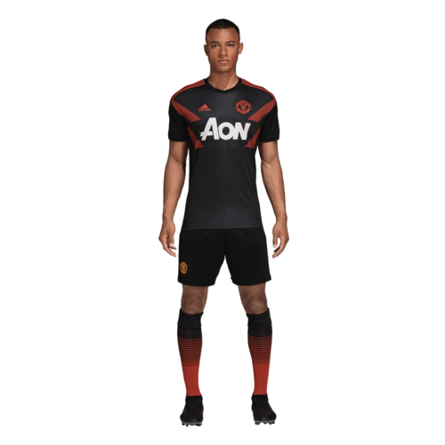 8635b29cd3f ... adidas Manchester United Home Pre-Match Jersey - Black/Real Red ...