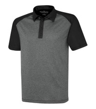 ATC Pro Team Heather Pro Polo- Graphite Heather/Black