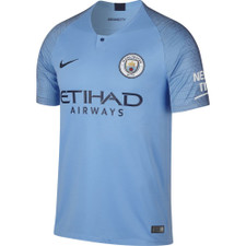 Nike Breathe 18/19 Manchester City FC Home Stadium Jersey - Field Blue
