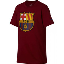 Nike FC Barcelona Crest T-Shirt Youth - Noble Red