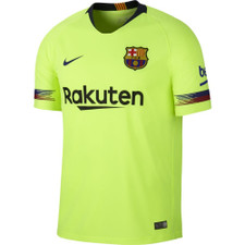 Nike Breathe 18/19 FC Barcelona Away Stadium Jersey - Volt