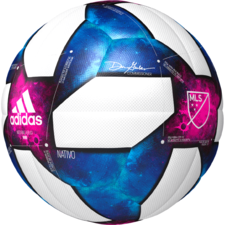 adidas MLS Mini Ball - White/Black/Bold Blue/Active Red