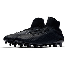 Nike Hypervenom 3 Pro Dynamic Fit Firm Ground Boot - Black/Black