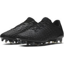 Nike Hypervenom 3 Elite Firm Ground Boot - Black/Black