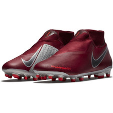 Nike Phantom VSN Academy Dynamic Fit Firm Ground Boot - Team Red/Mtlc Dark Grey-Bright Crimson