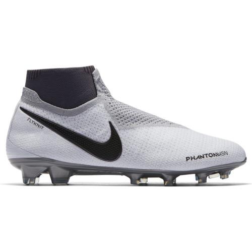Nike Phantom Vision Elite Dynamic Fit Firm Ground Boot - Pure Platinum/Black Crimson-Dark Grey