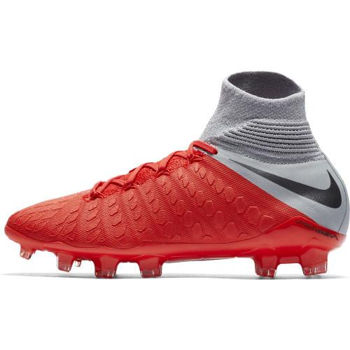 Nike Hypervenom 3 Elite Dynamic Fit Firm Ground Boot Jr - LT Crimson/Mtlc Dark Grey-Wolf Grey