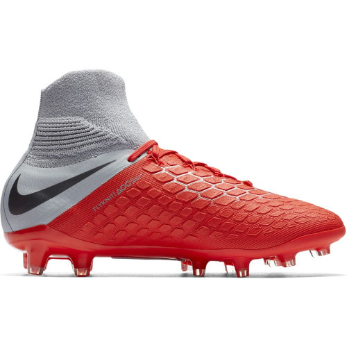 Nike Hypervenom 3 Elite Dynamic Fit Firm Ground Boot Jr - LT Crimson/Mtlc Dark Grey-Wolf Grey
