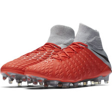 Nike Hypervenom 3 Elite Dynamic Fit Firm Ground Boot - LT Crimson/Mtlc Dark Grey-Wolf Grey