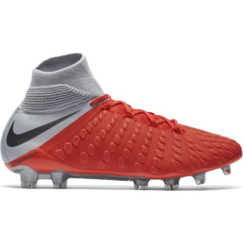 Nike Hypervenom 3 Elite Dynamic Fit Firm Ground Boot - LT Crimson/Mtlc Dark Grey-Wolf Grey