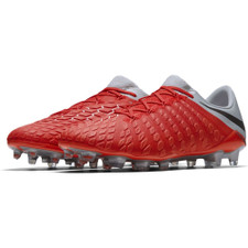 Nike Hypervenom 3 Elite Firm Ground Boot - LT Crimson/Mtlc Dark Grey-Wolf Grey