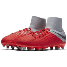 Nike Hypervenom 3 Academy Dynamic Fit Firm Ground Boot - Lt Crimson
